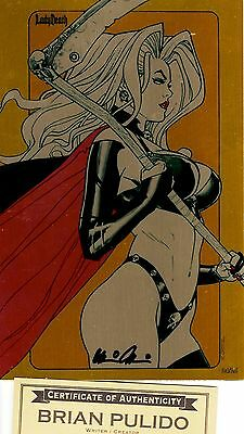 Lady Death Echoes 1 HEAVY METAL edition 24/25 sign Pulido  ** METAL COVER ** NM