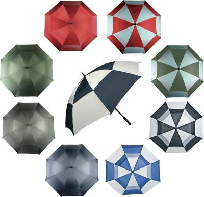 "New Dual Canopy Windproof Golf Umbrella - 60"" Span"