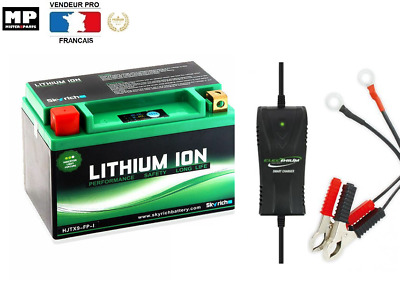Pack batterie lithium + chargeur lithium Type YTX9BS Pour Moto Scooter