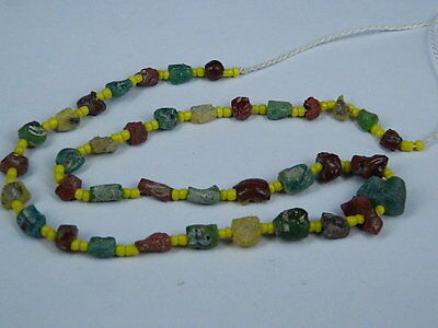 Ancient Fragment Glass Beads Strand Roman 200 BC  #BE1288