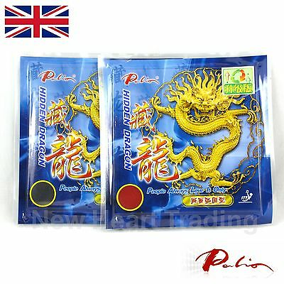 2 x Palio Hidden Dragon Table Tennis Rubbers ITTF approved Pips in 36-38° 2.2mm