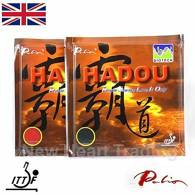 2 x Palio Hadou Biotech Table Tennis Rubbers with sponge ITTF approved  Pips in