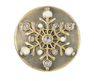 Buy 4, Get 5Th $6.95 Snap Free Ginger Snaps™ Brass Pearl Snowflake Sn19-13