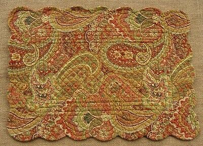 TANGIERS Quilted Reversible Placemat  by C&F - Rust, Green, Gold Paisley