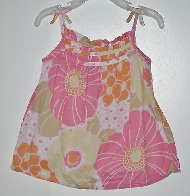 babyGAP Size 2 Years Pink Sleeveless Floral Tops ~ Shirt