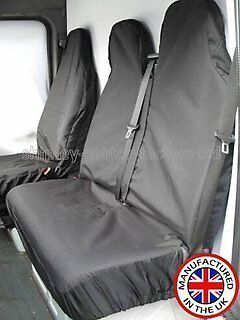 Ford Transit SWB MWB LWB Custom 2013 BLACK WATERPROOF VAN SEAT COVERS 2+1