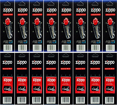 Zippo Lighter Flint+Wick Pack of 16 Value Packs (48 Flints and 8 Wicks)