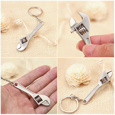 Metal Adjustable Creative Tool Wrench Spanner Key Chain Ring Keyring Mini Cute
