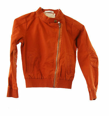 Scotch And Soda R'belle Girls Outerwear Jacket Zip Closure  Red Year 8 BCF511