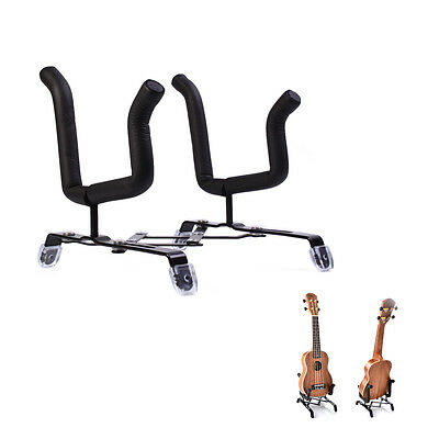 Folding Electric Acoustic Bass Guitar Stand A Frame Floor Rack Holder Metal