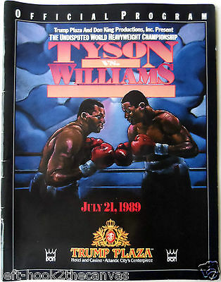 1989 'IRON' MIKE TYSON v CARL WILLIAMS on-site boxing programme