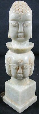 "Antique 7"" Tall Light Green Jade Buddha Wax Stamp Seal Nice"