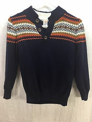 Gymboree Navy With Design Sweater Child's Size 7-8