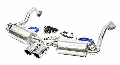 Porsche 987 Boxster & Cayman Wireless Valved Cat Back Stainless Exhaust