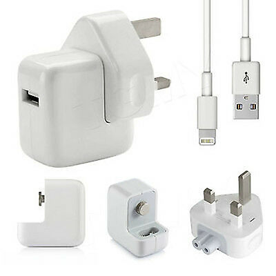 Genuine Apple 12W Mains Wall Charger Adapter Plug iPad Air iPhone 6 5 5C