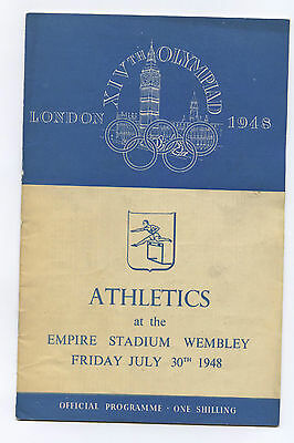 Orig.PRG   Olympic Games LONDON 1948 // ATHLETICS 30.07. with 3 Final`s !!  RARE