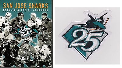 San Jose Sharks Yearbook 25Th Anniv Patch 2015 2016 Stanley Cup Final Champions?