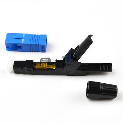 50 pcsEmbedded Type SC Cold Drop Cable Connector SC Fiber Optic Quick  Connector