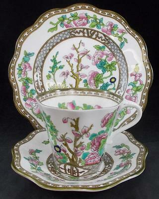 Coalport INDIAN TREE Trio Cup, Saucer, Salad Plate GREAT PREOWNED CONDITION