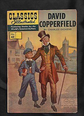 Classics Illustrated #48 Vg  Hrn166 (David Copperfield) Charles Dickens