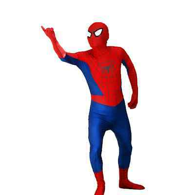 Childrens Kids Deluxe Superhero Red Spiderman Stretch Suit Fancy Dress Costume