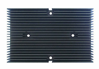 New Heat sink aluminum material and the surface - black anodized with 4 holes US