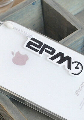 NEW Cute Korean Kpop Band 2PM Cellphone Dust Plug Cover Charm Nichkhun Taecyeon