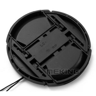 72mm Front Snap-on Len Lens Cap Cover with Cord for Nikon Camera D3200 D7000 New