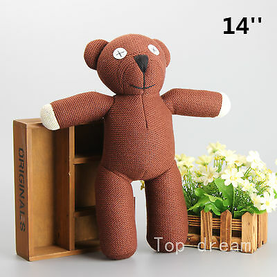 Cute Mr Bean Teddy Bear Plush Toy Soft Stuffed Animal Doll 14'' Kids Gift New