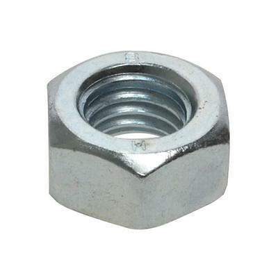 """Pack Size 1000 Zinc Plated Hex Standard 9/16"""" UNC Imperial Coarse Grade 8 Nut"""