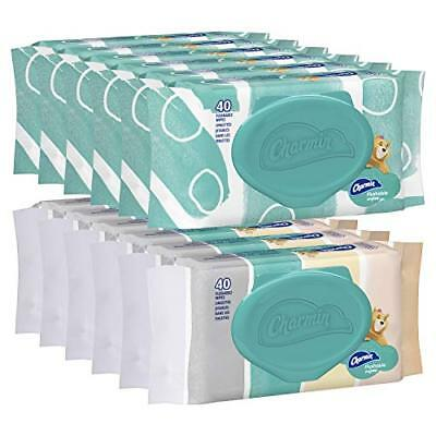 Charmin Freshmates Flushable Wipes, 40 Count (Pack Of 12) New Gift