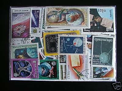 Timbres Espaces : 100 Timbres Tous Differents / Space Stamps
