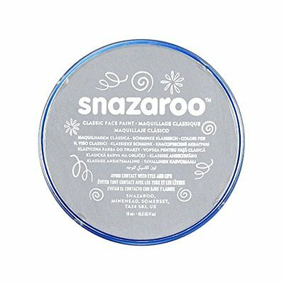 Snazaroo Classic Face Paint, 18Ml, Light Grey New Gift