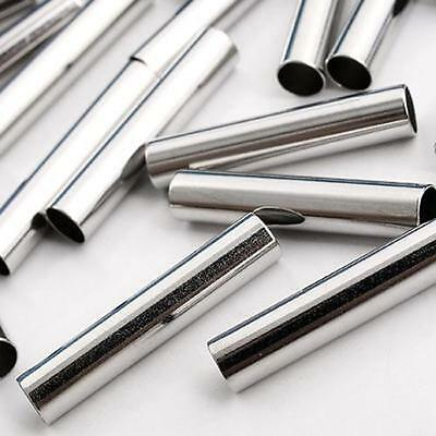 100 X Silver Tone Metal Tubes Spacers Findings 20x4mm HOT