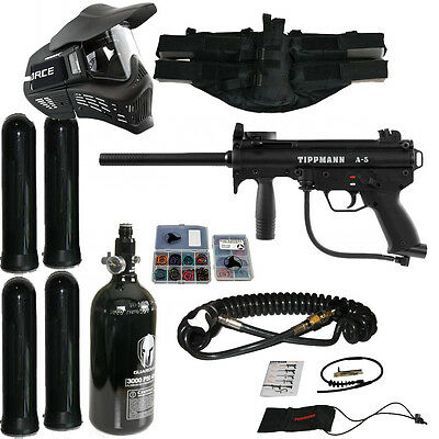 Tippmann A-5 package 6 - A5 paintball marker goggle hpa