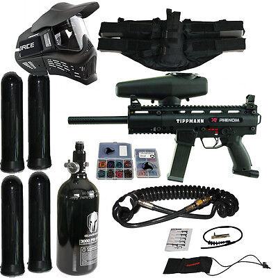 Tippmann X7 Phenom Package 6 / X-7 Paintball Marker w/ HPA Egrip Remote +more