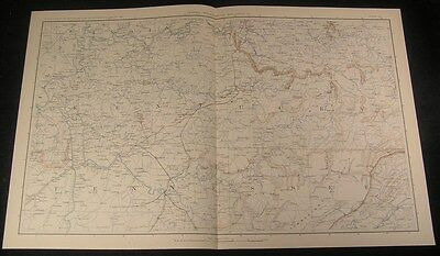 Kentucky & Northern Tennessee c.1890s huge detailed antique Civil War map