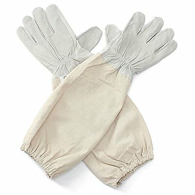 Alles XL Goat Leather Beekeeping Gloves with Vented Sleeves, 1 Pair (X Large)