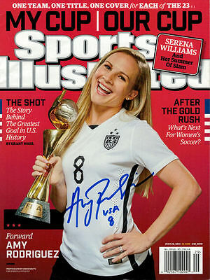 Amy Rodriguez Autographed/signed Usa Soccer Sports Illustrated World Cup 7/30/15