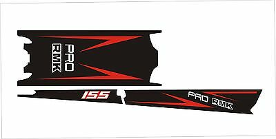 POLARIS AXYS TUNNEL SKS decal GRAPHICS 800 600 PRO RMK 155 163 red arrow  black