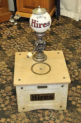1909 Original Hires MUNIMAKER Syrup Marbl Soda Fountain Cola Root Beer Dispenser