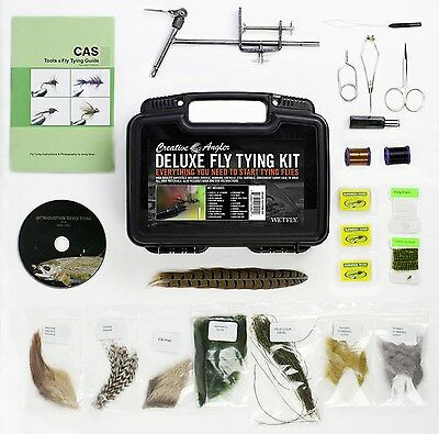 Wetfly Featuring Creative Angler Deluxe Fly Tying Kit with Book and Dvd. This...