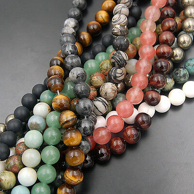 """Wholesale Lot Natural Gemstone Round Spacer Loose Beads 4mm 15.5"""" Free shipping"""