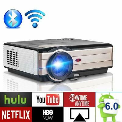 LED Wireless Projector Android WIFI Digital TV DVBT Home Cinema Theater USB HDMI