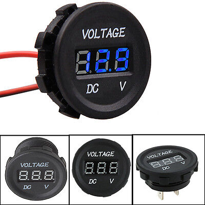 DC12V Blue LED Panel Digital Voltage Meter Display Volt meter Car Motorcycle #4