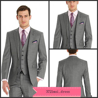 New 3 Piece Groom Tuxedo Bridegroom Business Dinner Formal Suit Wedding Men Suit
