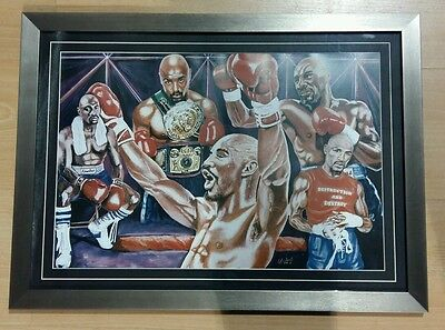 Framed Marvin Hagler Caricature Poster/Print/Photo Huge