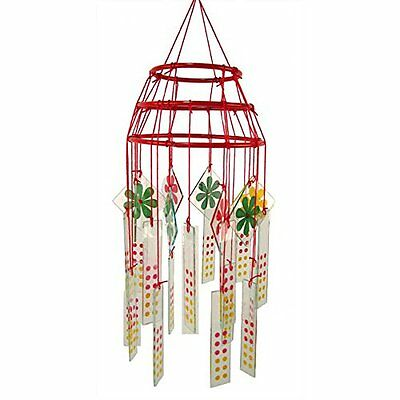 Gorgeous Chinese Glass Wind Chime & Mobile Yard Garden Outdoor Living New Gift