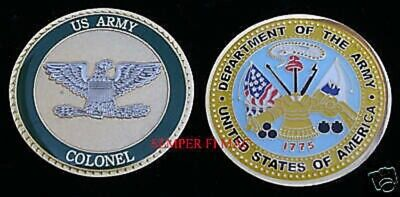 LIEUTENANT COLONEL US Army Challenge Coin O5 Military Rank Pin Up