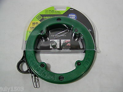 "(1) Greenlee 438-5H Steel Fish Tape 50 foot 1/8""  Free Shipping!"